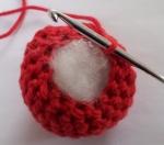 Stuff the crochet ball