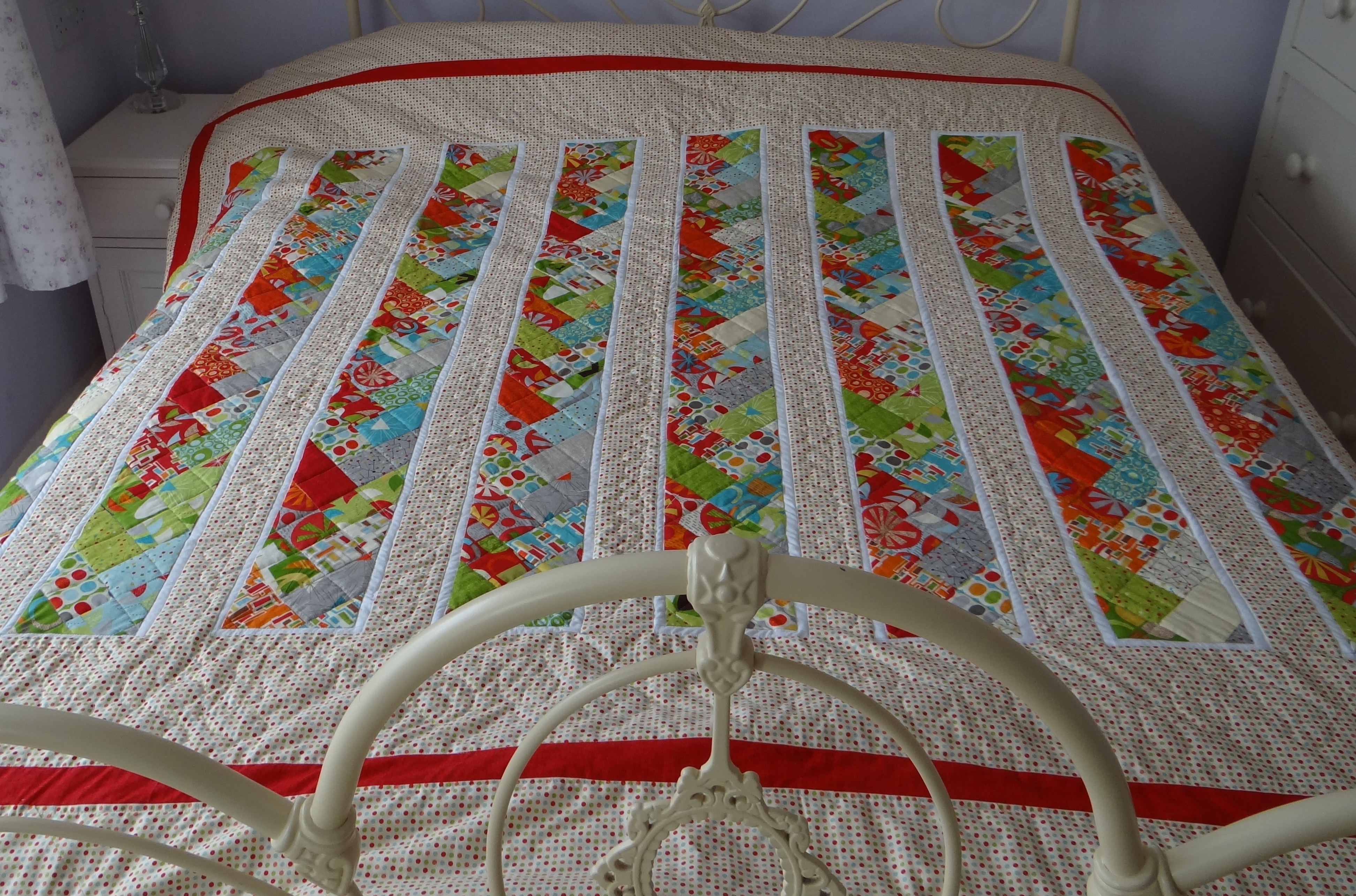 Braided Quilt Border Pattern Home : A Jelly Roll Quilt of Blogging Friendship thestitchsharer
