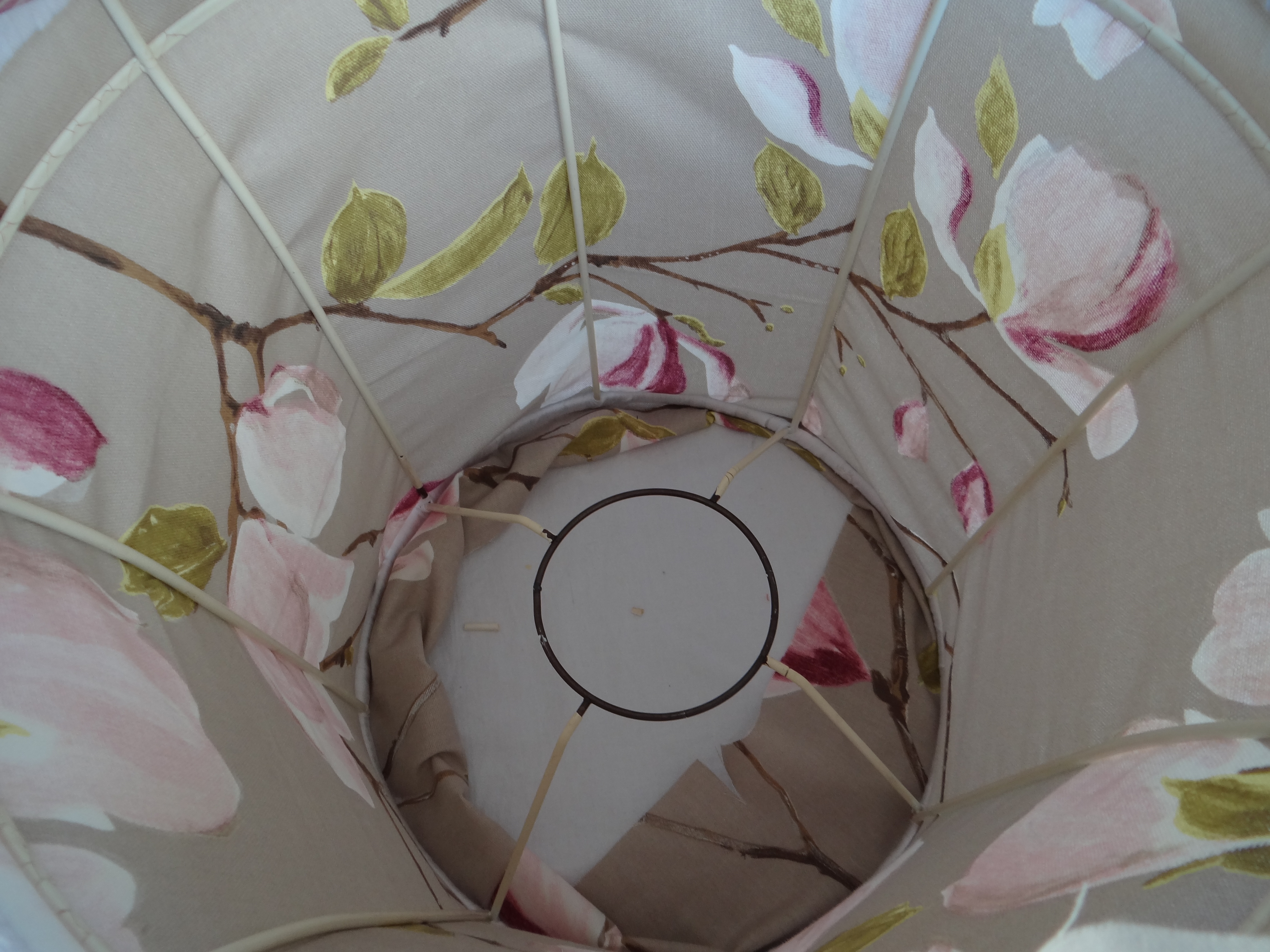 How to recover a lined fabric lampshade thestitchsharer lamp shade fabric inside out keyboard keysfo