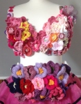 MoonWalk London 2014 bra Bum bag covered in flowers