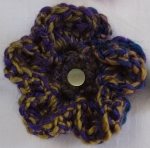 chunky yarn crochet flower