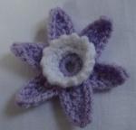 Crochet trumpet flowers