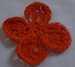 orange crochet lacy flower