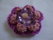 crochet flower with beads