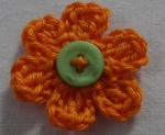 orange crochet flower