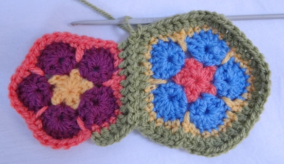 join as you go crochet motifs