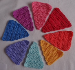 Crochet Bunting Triangles