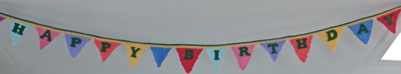 Happy Birthday Crochet and Knitted Bunting