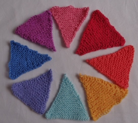 Knitted Bunting Triangles