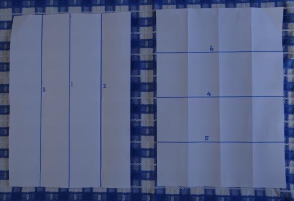 folding paper to make concertina book