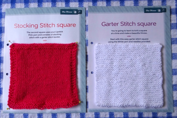 Stocking and Garter Stitch Squares The Art of Knitting