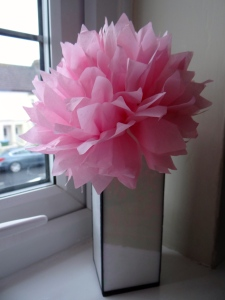 How to make peony tissue paper flowers