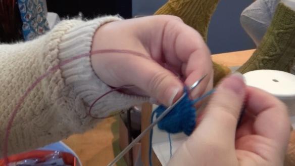 magic loop sock knitting