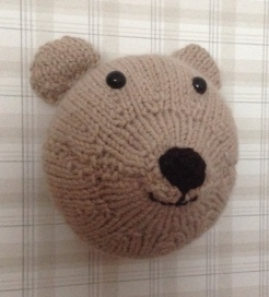 Mimi the knitted faux taxidermy bear Sincerely Louise workshop make