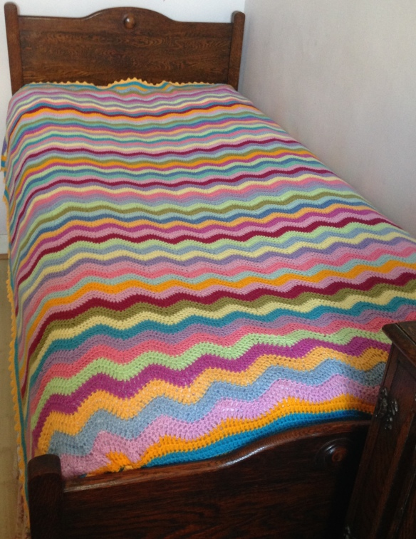 Finished Attic 24 ripple blanket