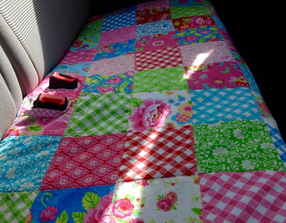 Fiat 500 back seat cover patchwork