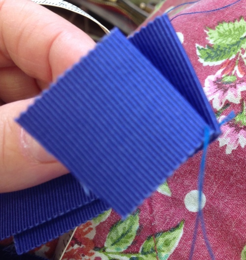 petersham ribbon oversew