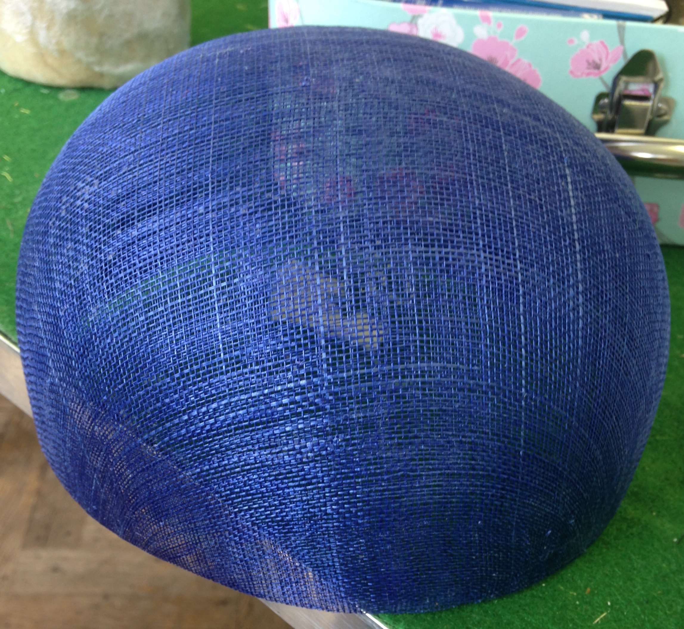 A Step by Step Guide to making a Sinamay Hat with an up