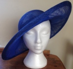 sinamay hat from front