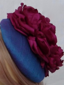 Blue and Cerise Shot Silk Percher Isabella Josie
