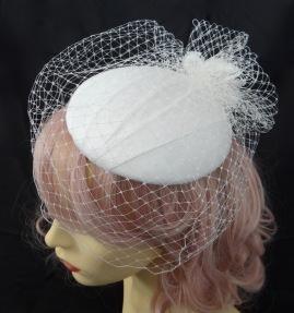Ivory Silk Percher with veiling Isabella Josie