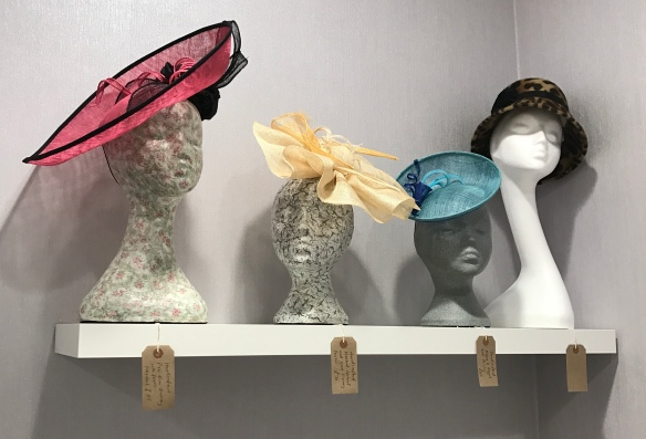 Isabella Josie Millinery Hats on display Marina Beauty Box, Port Solent, Hampshire