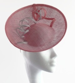 Pink and Silver Saucer Hat with FotoFuze