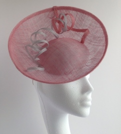 Pink and Silver Saucer Hat without FotoFuze